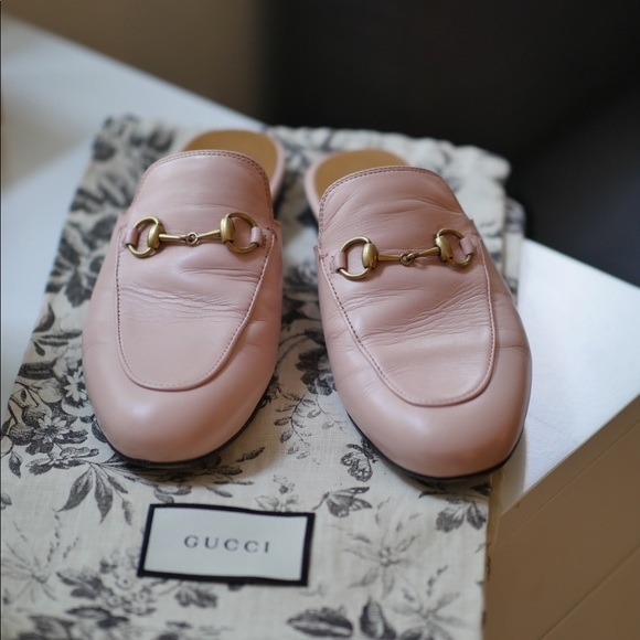 8bfa791e368 Gucci Shoes - Gucci Princetown Leather Slipper in Light Pink